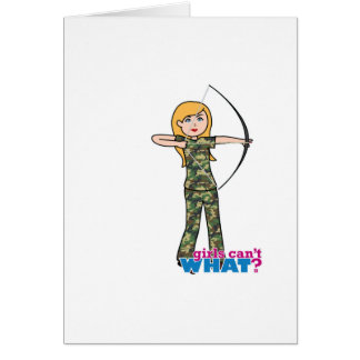 Archer Girl in Camo - Light Card