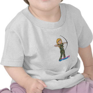 Archer Girl in Camo - Light T-shirt