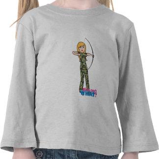 Archer Girl in Camo - Light Tee Shirts