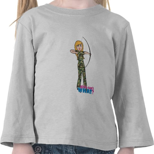 Archer Girl in Camo - Light Tee Shirts