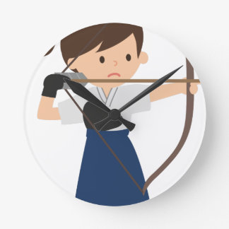 Archer Round Clock