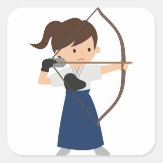 Archer Square Sticker