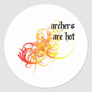 Archers Are Hot Classic Round Sticker