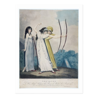 Archers, engraved by J.H. Wright (fl.1795-1838) an Postcard