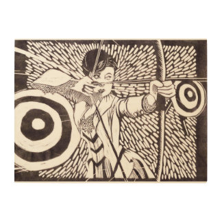 "Archery 24""x18"" Wood Wall Art"