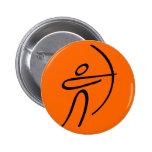 Archery 2 Inch Round Button