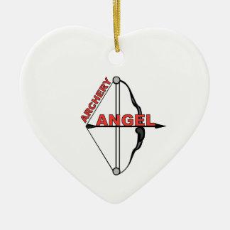 Archery Angel Ceramic Ornament