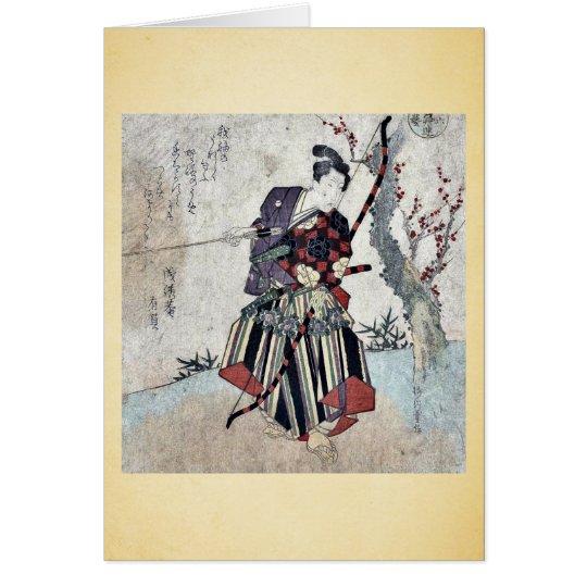 Archery by Yanagawa, Shigenobu Ukiyoe Card