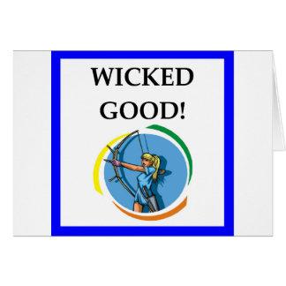 archery card