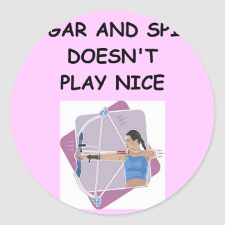 archery classic round sticker