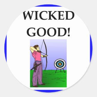 archery classic round sticker