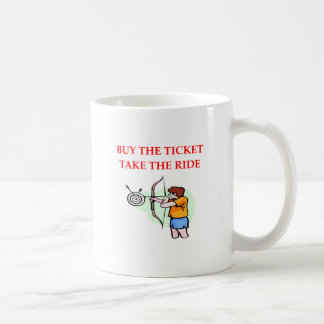 archery coffee mug