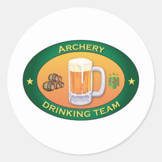 Archery Drinking Team Classic Round Sticker
