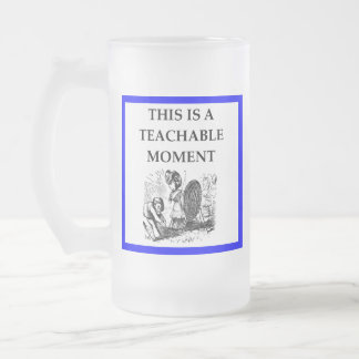 archery frosted glass beer mug