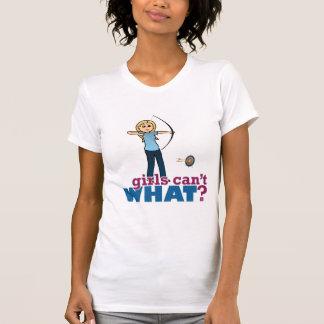 Archery Girl in Blue - Blonde Shirt