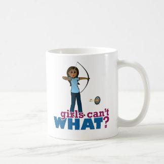 Archery Girl in Blue - Dark Coffee Mug
