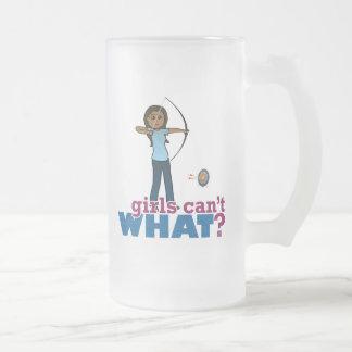 Archery Girl in Blue - Dark Mugs