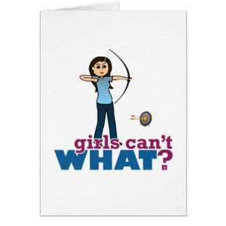 Archery Girl in Blue - Light Cards