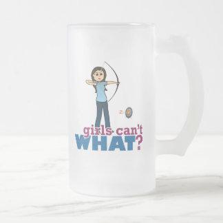 Archery Girl in Blue - Light Coffee Mug