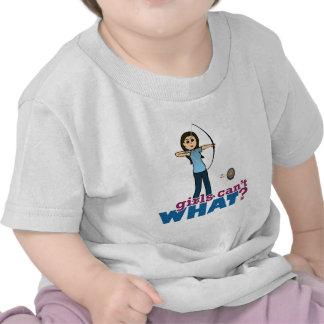 Archery Girl in Blue - Light Tee Shirts