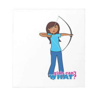 Archery Girl Notepad
