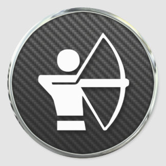 Archery Icon Classic Round Sticker