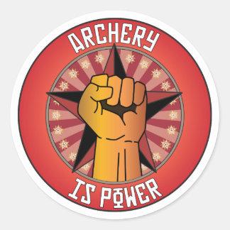 Archery Is Power Classic Round Sticker