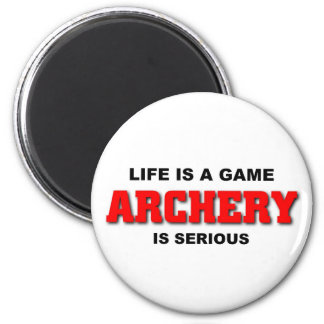 Archery is serious refrigerator magnet