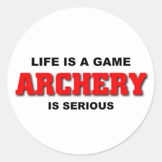 Archery is serious round sticker