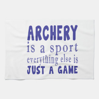 ARCHERY JUST A GAME KITCHEN TOWELS