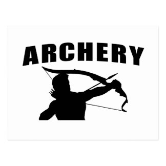 Archery - Male Postcard