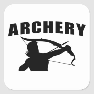 Archery - Male Square Sticker