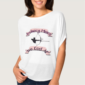 Archery Moms Are cool AF  Bella Womens Flowy Scoop T-Shirt
