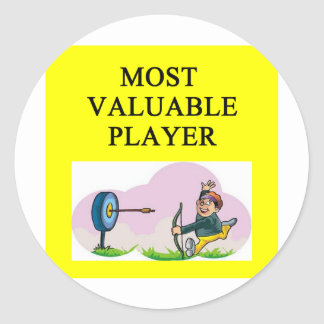 ARCHERY most valuable player Classic Round Sticker