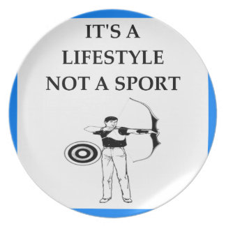 archery party plate