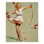 Archery Pin-Up Girl Posters