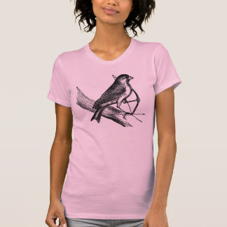 Archery Sparrow Bird with Bow & Arrow Vintage T-Shirt