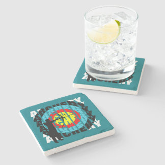 Archery Sport Cool Typography Archers Graphic Stone Coaster
