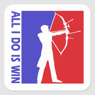 archery square sticker
