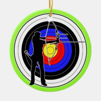 Archery & target 01 ceramic ornament