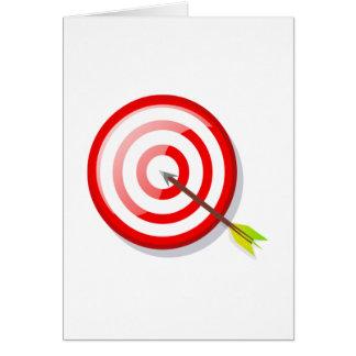 Archery Target and Arrow Card
