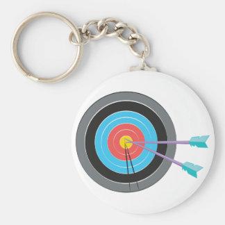 Archery Target Basic Round Button Keychain