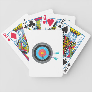 Archery Target Bicycle Playing Cards