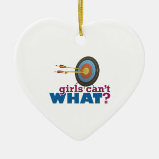 Archery Target Ceramic Heart Ornament