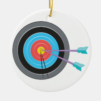 Archery Target Ceramic Ornament