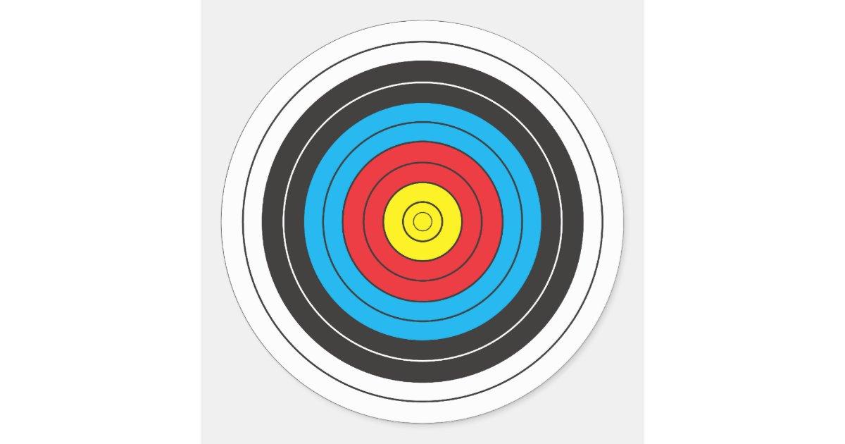 Archery Target Classic Round Sticker Zazzle Ca
