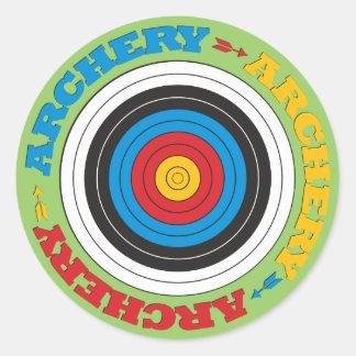 Archery Target Classic Round Sticker