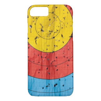 Archery target close up with many arrow holes iPhone 7 case