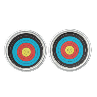 """Archery Target"" design jewelry Cuff Links"