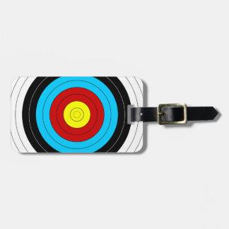Archery Target Luggage Tag